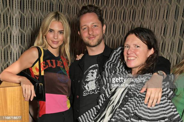 Kendall Jenner Derek Blasberg and Katie Grand attend the LOVE YouTube LFW party supported by PerrietJouet and hosted by Katie Grand Derek Blasberg at...