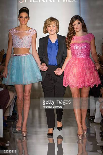 Kendall Jenner designer Sherri Hill and Kylie Jenner walk the runway the Evening Sherri Hill Spring 2013 MercedesBenz Fashion Week Show at Trump...