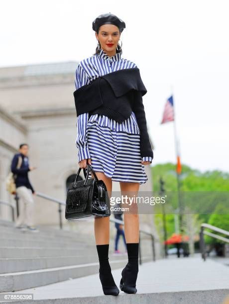 Kendall Jenner does a photoshoot on the steps of the Metropolitan Museum of Art on May 4 2017 in New York City