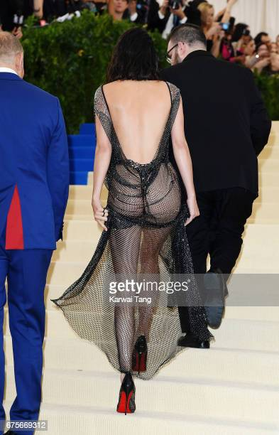 Kendall Jenner dress detail attends 'Rei Kawakubo/Comme des Garcons Art Of The InBetween' Costume Institute Gala at Metropolitan Museum of Art on May...
