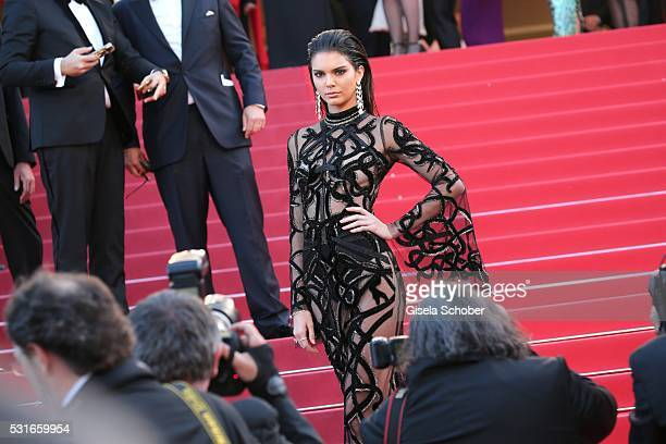 """Kendall Jenner in front photographers during the """"From The Land Of The Moon """" premiere during the 69th annual Cannes Film Festival at the Palais des..."""
