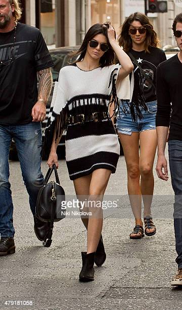 Kendall Jenner is seen arriving at Sotheby's auction house Mayfair on July 01 2015 in London England