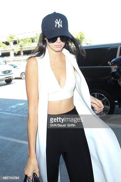 Kendall Jenner is seen at LAX on August 29 2015 in Los Angeles California
