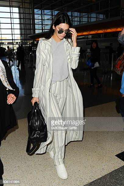 Kendall Jenner is seen at LAX on January 21 2016 in Los Angeles California