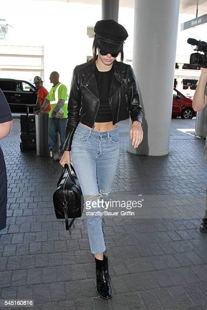 Kendall Jenner is seen at LAX on July 05 2016 in Los Angeles California