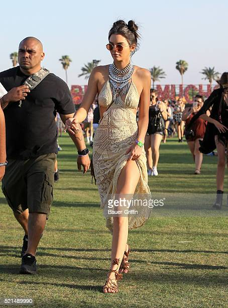Kendall Jenner is seen at The Coachella Valley Music and Arts Festival on April 15, 2016 in Los Angeles, California.