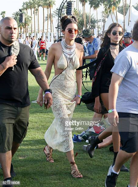 Kendall Jenner is seen at The Coachella Valley Music and Arts Festival on April 16 2016 in Los Angeles California