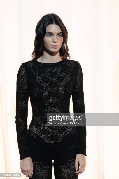 Kendall Jenner is seen backstage ahead of the Alberta Ferretti show during Milan Fashion Week Spring/Summer 2019 on September 19 2018 in Milan Italy