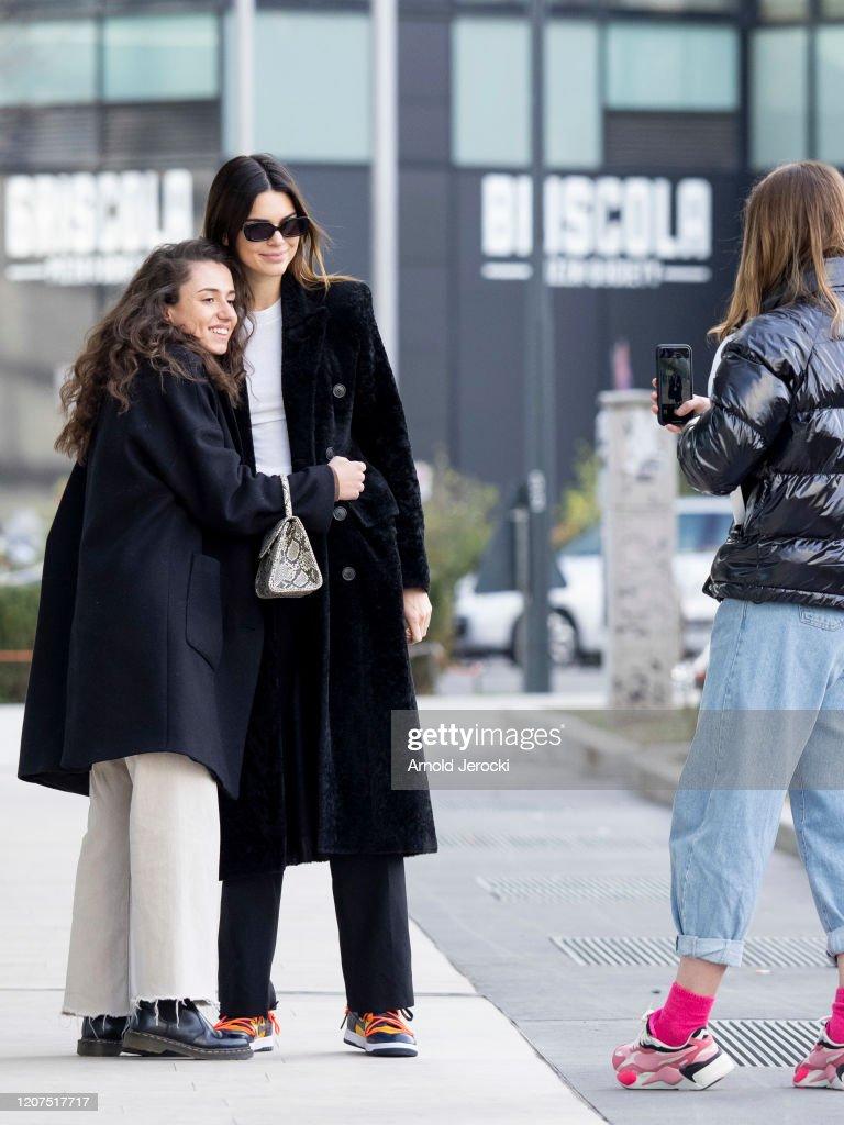 Celebrity Sightings: February 20th - Milan Fashion Week Fall/Winter 2020-2021 : ニュース写真