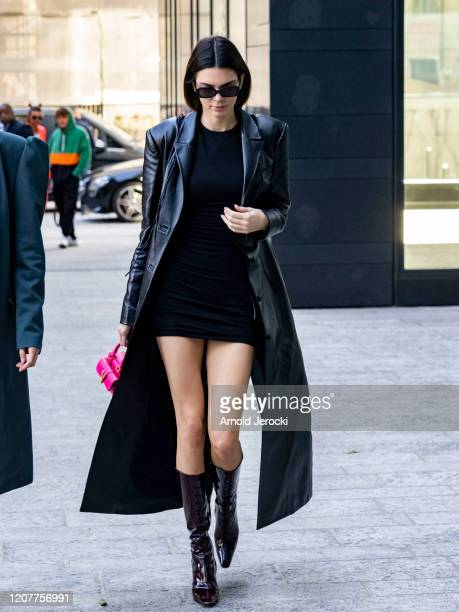 Kendall Jenner is seen during Milan Fashion Week Fall/Winter 2020-2021 on February 21, 2020 in Milan, Italy.