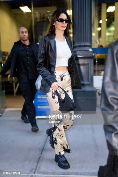 Kendall Jenner is seen in NoHo on February 14, 2020 in New York City.