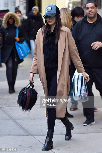 Kendall Jenner is seen in Soho on February 19 2016 in New York City