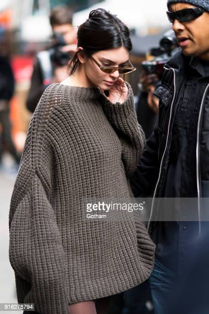Kendall Jenner is seen in SoHo on February 9 2018 in New York City