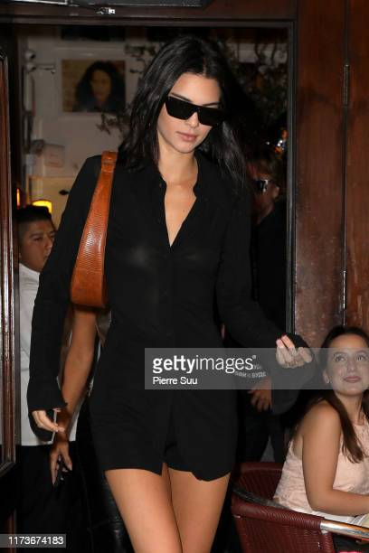 Kendall Jenner is seen leaving Cipriani in Soho on September 10, 2019 in New York City.