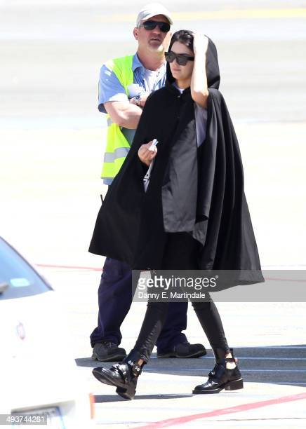 Kendall Jenner is seen leaving Florence Airport after Kim Kardashian And Kanye West's wedding on May 25 2014 in Florence Italy
