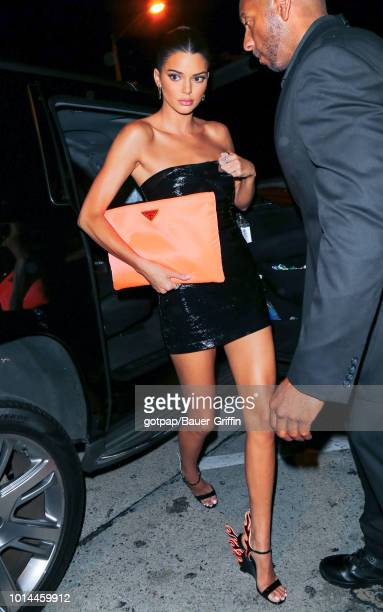Kendall Jenner is seen on August 09 2018 in Los Angeles California