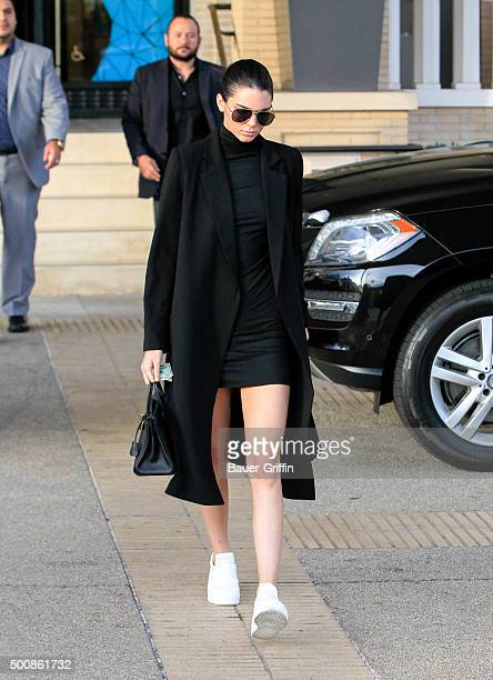 Kendall Jenner is seen on December 10 2015 in Los Angeles California