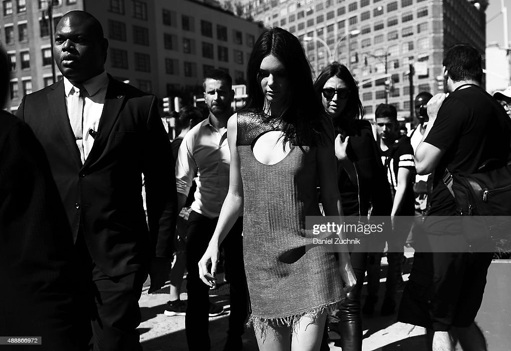 Kendall Jenner is seen outside the Calvin Klein show during New York Fashion Week 2016 on September 17, 2015 in New York City.