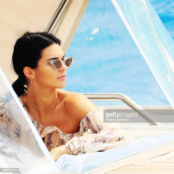 Kendall Jenner is spotted on a boat during the 70th annual Cannes Film Festival at on May 22 2017 in Cannes France