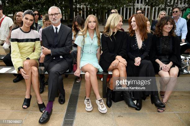 Kendall Jenner, Jean Cassegrain, Lila Moss, Kate Moss, Julianne Moore, and Linda Cardellini attend the Longchamp SS20 Runway Show on September 07,...