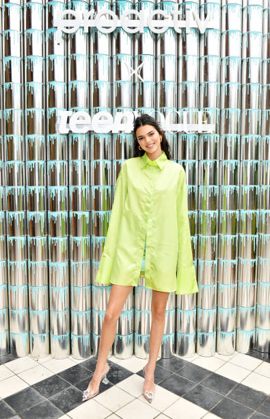 """NY: Kendall Jenner Joins Proactiv And Teen Vogue At """"Paint Positivity: Because Words Matter"""" Event In NYC On June 20th"""