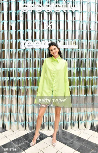 """Kendall Jenner joins Proactiv and Teen Vogue at """"Paint Positivity Because Words Matter"""" event at Wythe Hotel on June 20 2019 in Brooklyn New York"""