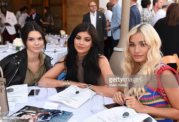 Kendall Jenner Kylie Jenner and Pia Mia attend Westime Celebrates Kris Jenner's Haute Living Cover at Nobu Malibu on August 24 2015 in Malibu...