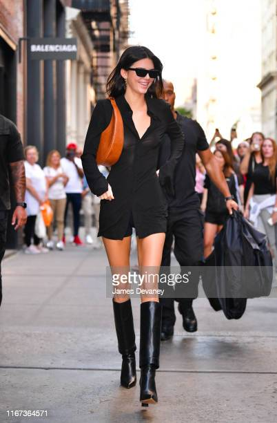 Kendall Jenner leaves Balenciaga store in Soho on September 10 2019 in New York City