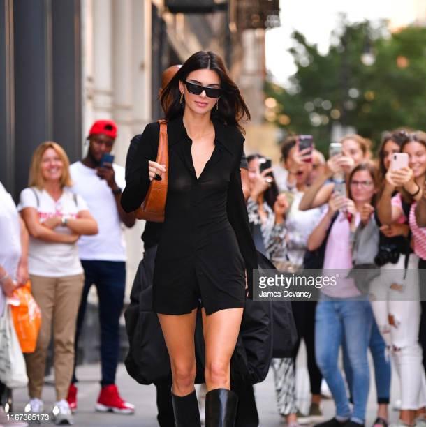 Kendall Jenner leaves Balenciaga store in Soho on September 10, 2019 in New York City.