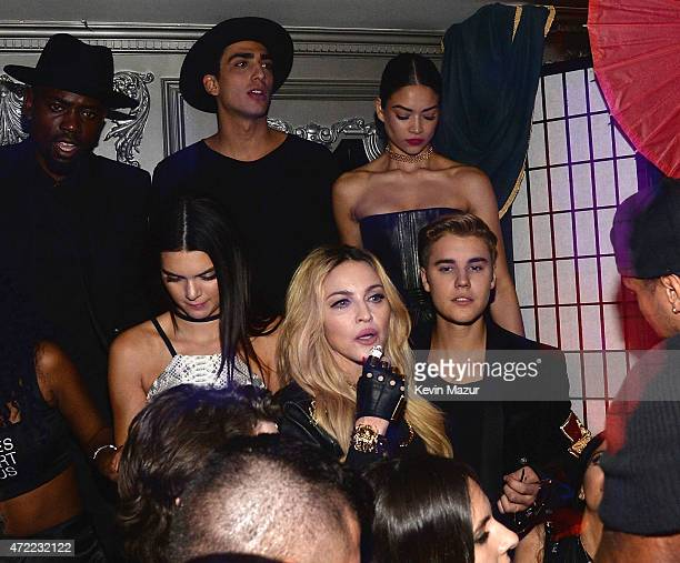 Kendall Jenner Madonna and Justin Bieber attend Rihanna's private Met Gala after party at Up Down on May 4 2015 in New York City