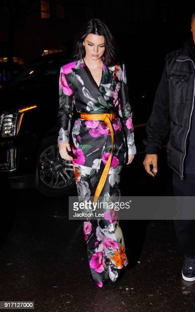 Kendall Jenner on February 11 2018 in New York City