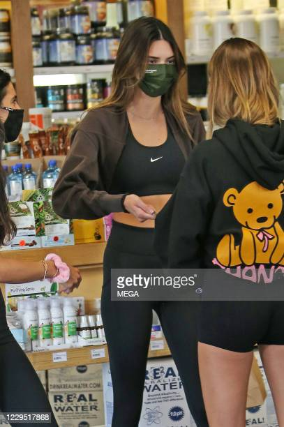 Kendall Jenner out and about with Hailey Bieber on November 6, 2020 in Los Angeles, California. (Photo by CrownMedia/MEGA/GC Images
