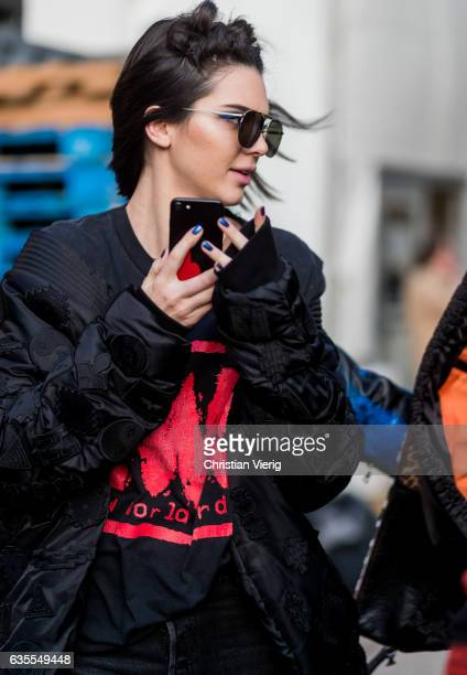 Kendall Jenner outside Anna Sui on February 15 2017 in New York City