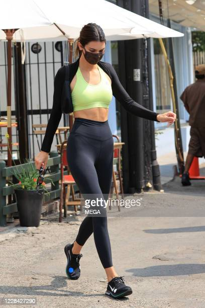 Kendall Jenner seen after having lunch with Hailey Bieber on September 9 2020 in Los Angeles California
