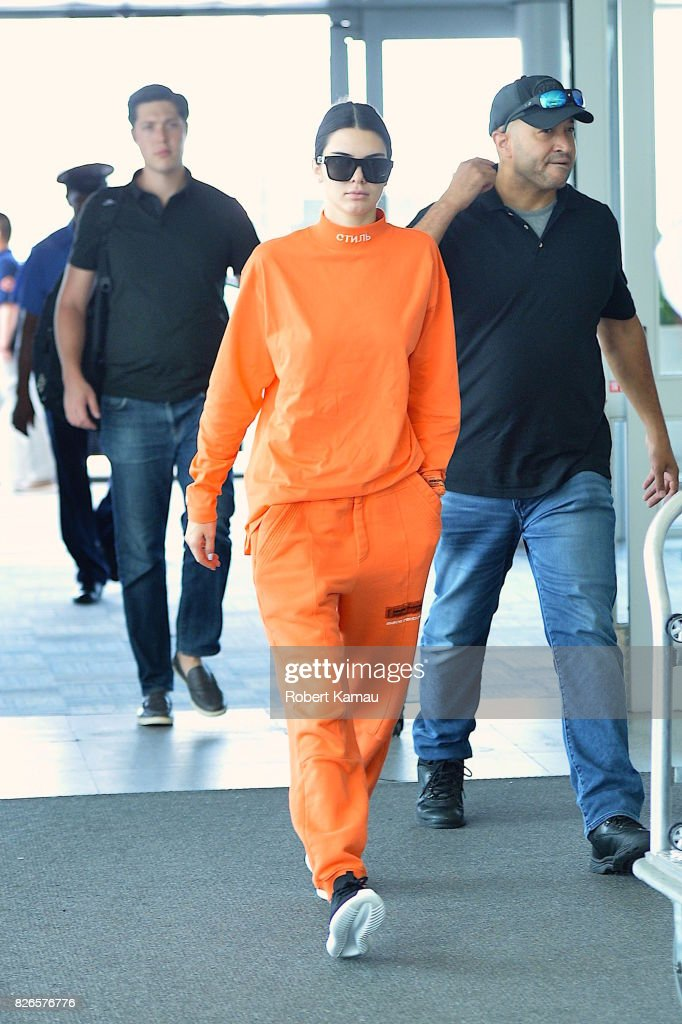 Kendall Jenner seen at JFK Airport on August 4 , 2017 in New York City.