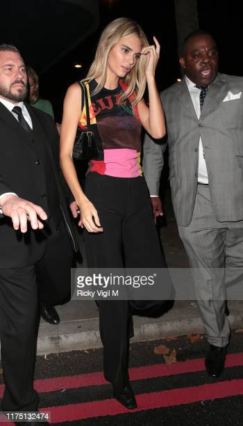 Kendall Jenner seen attending LOVE Magazine YouTube party at The Standard during LFW September 2019 on September 16 2019 in London England