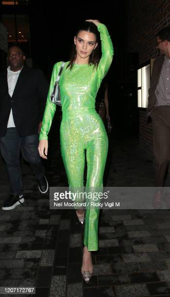 Kendall Jenner seen attending The Box BRIT Awards 2020 afterparty on February 18, 2020 in London, England.