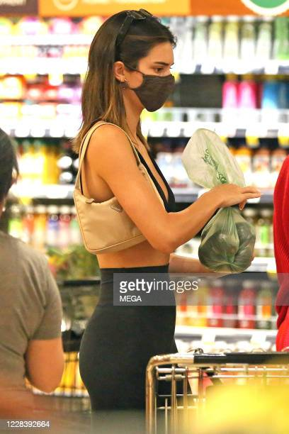 Kendall Jenner seen grocery shopping on September 7 2020 in Los Angeles California