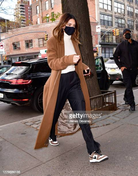 Kendall Jenner seen on the streets of the West Village on November 19, 2020 in New York City.