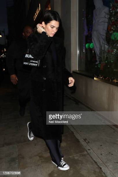 Kendall Jenner seen shopping at Louis Vuitton and going to Burberry head office for a fitting during LFW February 2020 on February 16 2020 in London...