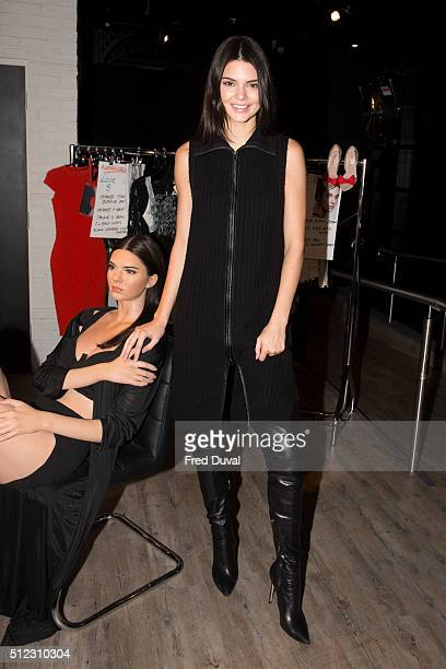 Kendall Jenner Visits Her New Wax Figure at Madame Tussauds on February 23 2016 in London
