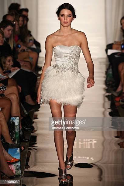 Kendall Jenner walks the runway at Evening By Sherri Hill Spring 2012 Collection at Trump Tower Grand Corridor on September 14 2011 in New York City