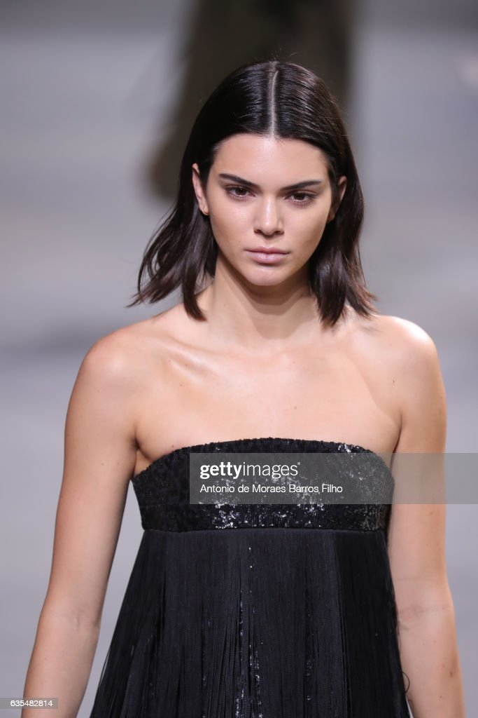 Kendall Jenner walks the runway at Michael Kors show during New York Fashion Week at Spring Studios on February 15, 2017 in New York City.