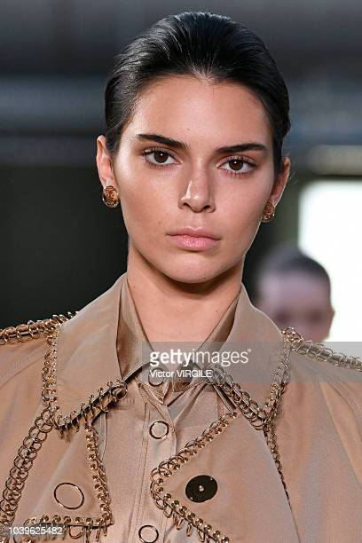Kendall Jenner walks the runway at the Burberry Ready to Wear Spring/Summer 2019 fashion show during London Fashion Week September 2018 on September...