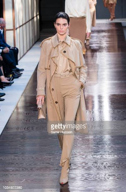 Kendall Jenner walks the runway at the Burberry show during London Fashion Week September 2018 on September 17 2018 in London England