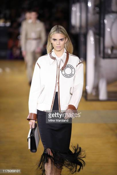 Kendall Jenner walks the runway at the Burberry show during London Fashion Week September 2019 on September 16, 2019 in London, England.