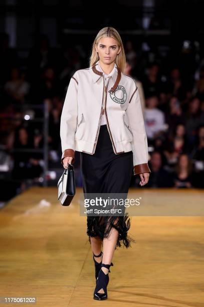 Kendall Jenner walks the runway at the Burberry show during London Fashion Week September 2019 at Troubadour White City Theatre on September 16, 2019...