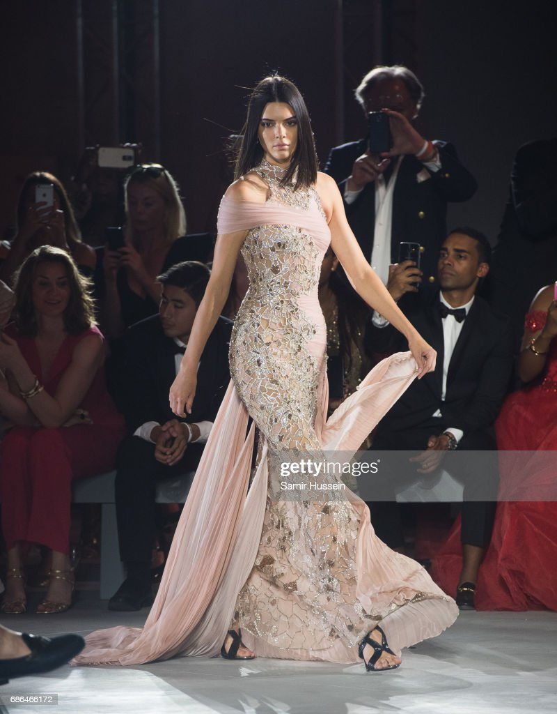 Kendall Jenner walks the runway at the Fashion for Relief event during the 70th annual Cannes Film Festival at Aeroport Cannes Mandelieu on May 21, 2017 in Cannes, France.