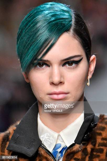 Kendall Jenner walks the runway at the Fendi Ready to Wear Spring/Summer 2018 fashion show during Milan Fashion Week Spring/Summer 2018 on September...