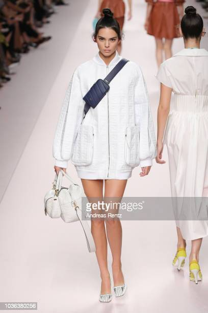 Kendall Jenner walks the runway at the Fendi show during Milan Fashion Week Spring/Summer 2019 on September 20 2018 in Milan Italy